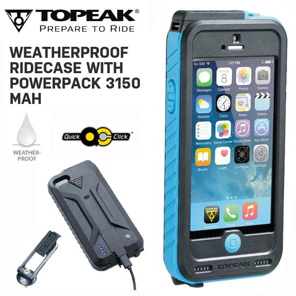 TOPEAK (トピーク) ウェザープルーフ ライドケース (パワーパック内蔵) セット BLU BAG29800 スマホケース