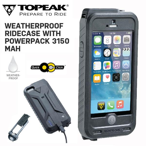 TOPEAK (トピーク) ウェザープルーフ ライドケース (パワーパック内蔵) セット GRY BAG29803 スマホケース