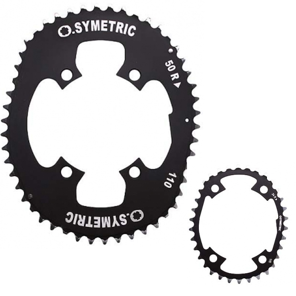 STRONGLIGHT ストロングライト OSYMETRIC チェーンリングキット 110PCD 4arms (54/44) 5502044