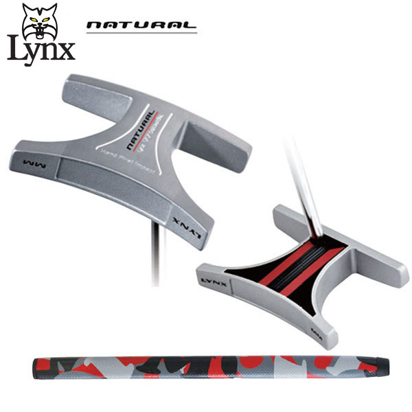 リンクス ゴルフ ナチュラル MM パター センターシャフト ブラック×レッド LYNX NATURAL【リンクス ゴルフ】【ナチュラルMM】【パター】【LYNX】【NATURAL】【PUTTER】