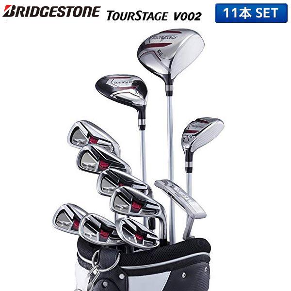 BRIDGESTONE TOURSTAGE with the Bridgestone golf tour stage V002 club set 11 regular company of fire fighters (1W,5W,4U,6-PW,PS,SW,PT) caddie bag