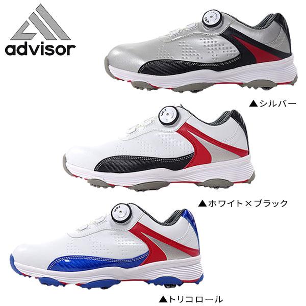 f7e05e89f2266 Adviser golf ADGS2017 dial-type soft spikes golf shoes MOZ SISTEM Advisor  3E+αSoftsbikes