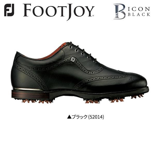 【幅2E】 フットジョイ ゴルフ アイコン ブラック 52014 ゴルフシューズ ブラック FootJoy ICON BLACK【フットジョイゴルフ】【ゴルフシューズ】