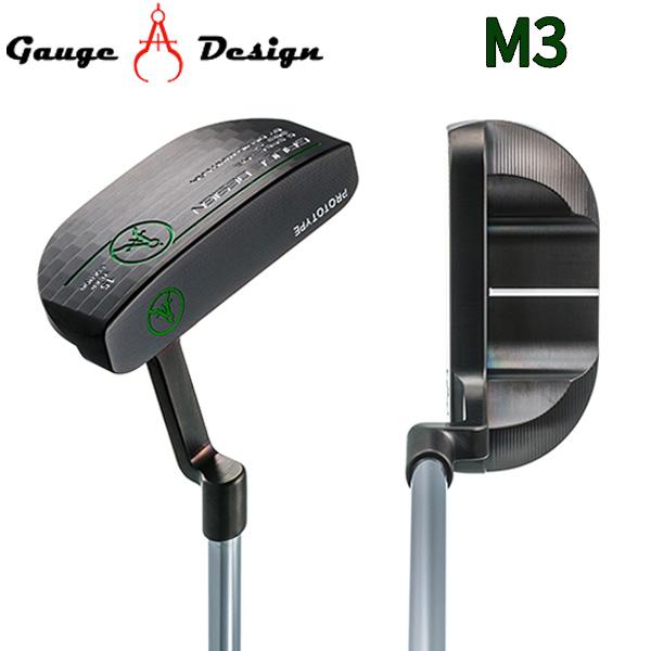 ゲージデザイン M3 ブラック パター オリジナルスチールシャフト BLACK GAUGE DESIGN【ゲージデザイン】【パター】