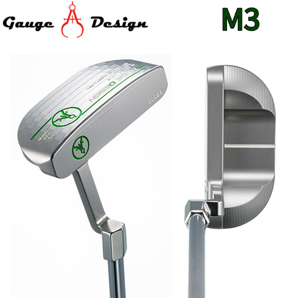 ゲージデザイン M3 シルバー パター オリジナルスチールシャフト SILVER GAUGE DESIGN【ゲージデザイン】【パター】