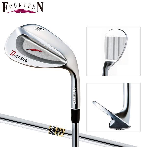 フォーティーン ゴルフ D-036 ウェッジ ダイナミックゴールド スチールシャフト Fourteen D036