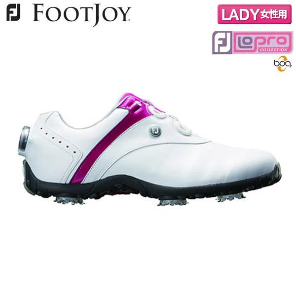 【レディース】 フットジョイゴルフ ロープロ SP ボア 97158 ゴルフシューズ ホワイト×ベリー FOOTJOY Lopro SP Boa【フットジョイゴルフ】【ゴルフシューズ】