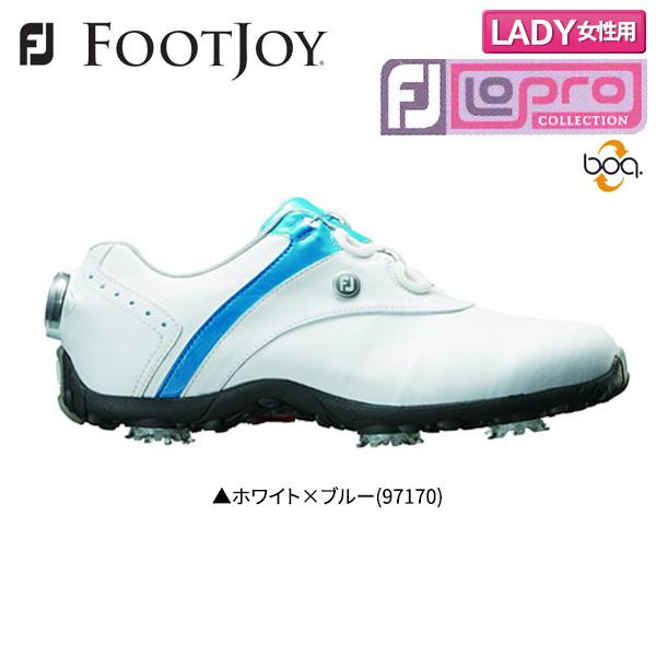 【レディース】 フットジョイゴルフ ロープロ SP ボア 97170 ゴルフシューズ ホワイト×ブルー FOOTJOY Lopro SP Boa【フットジョイゴルフ】【ゴルフシューズ】