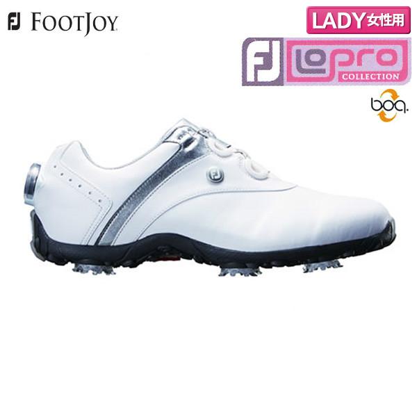 【レディース】 フットジョイゴルフ ロープロ SP ボア 97180 ゴルフシューズ ホワイト×シルバー FOOTJOY Lopro SP Boa【フットジョイゴルフ】【ゴルフシューズ】