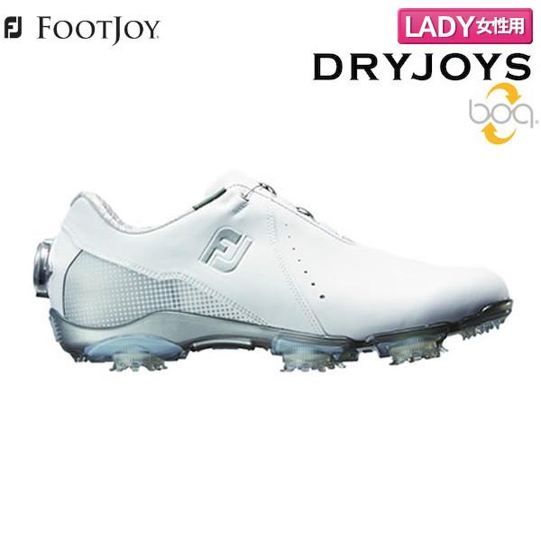 【レディース】 フットジョイ ドライ ジョイズ ボア 99068 ゴルフシューズ ホワイト×シルバー FOOTJOY DRYJOY Boa【フットジョイゴルフ】【ゴルフシューズ】
