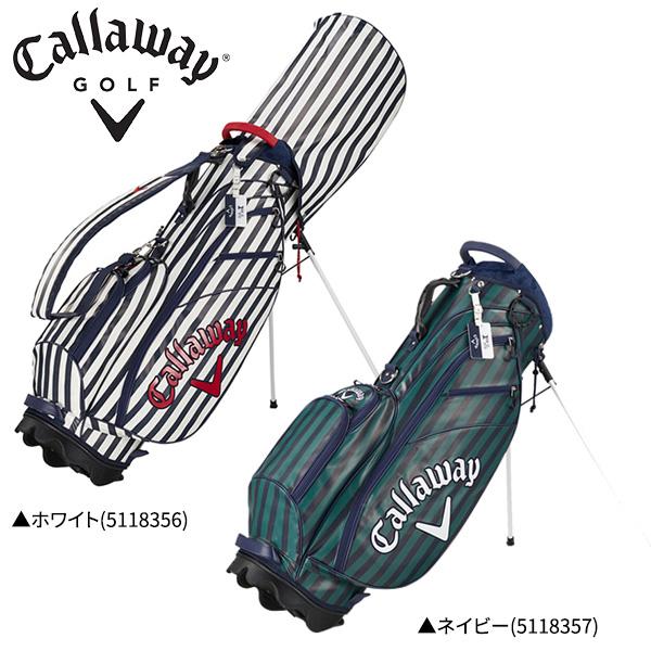 キャロウェイ ゴルフ スタイル ストライプ FW 18 JM スタンド キャディバッグ Callaway Style Stripe ゴルフバッグ【キャロウェイ】【キャディバッグ】