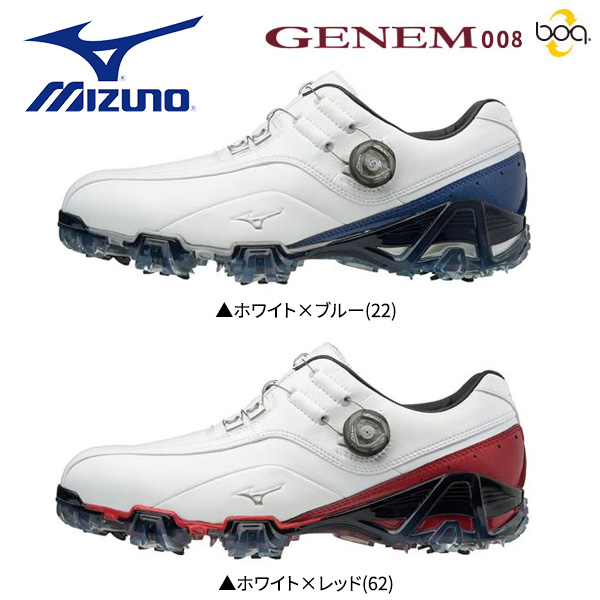 【幅3E/EEE】 ミズノ ゴルフ ジェネム 008 ボア 51GM1800 ゴルフシューズ MIZUNO GENEM Boa【ミズノ】【ゴルフシューズ】
