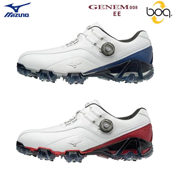 【幅2E】 ミズノ ゴルフ ジェネム 008 ボア 51GP1800 ゴルフシューズ MIZUNO GENEM Boa【ミズノ】【ゴルフシューズ】