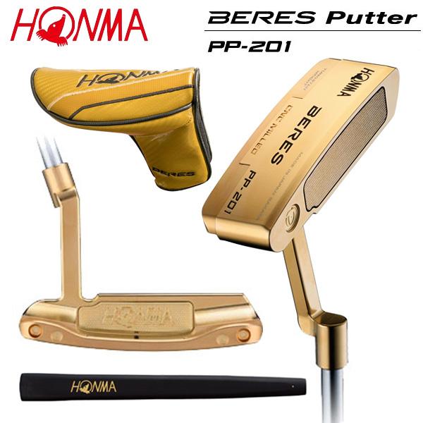 ホンマ ゴルフ ベレス PP-201 金メッキ仕上げ パター HONMA BERES PP201【ホンマ】【ベレスパター】