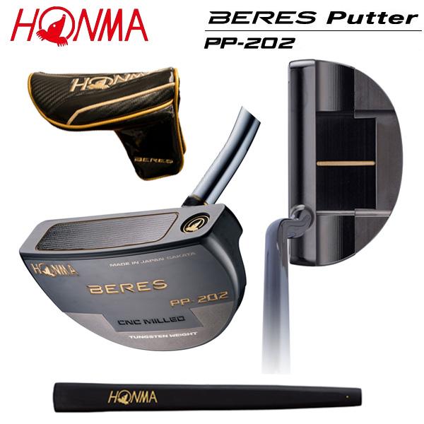 ホンマ ゴルフ ベレス PP-202 光沢ニッケル黒染め仕上げ パター HONMA BERES PP202【ホンマ】【ベレスパター】