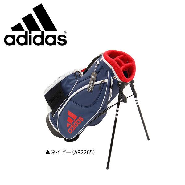 【ジュニア用/子供用】 アディダス ゴルフ AWT57 スタンド キャディバッグ ネイビー(A92265) adidas Jr ゴルフバッグ【アディダスキャディバッグ】