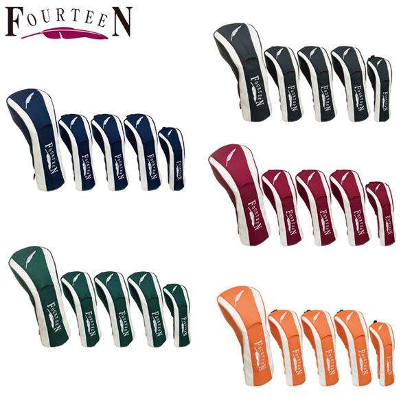 フォーティーン ゴルフ HC0715 ヘッドカバーセット FOURTEEN #1,3,5,W,UT【フォーティーン】【ヘッドカバー】
