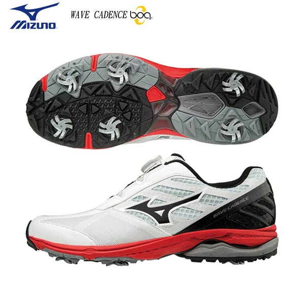 【幅3E】 ミズノ ゴルフ ウェーブケイデンス ボア 51GM1870 ゴルフシューズ ホワイト×ブラック(01) MIZUNO WAVE CADENCE boa【ミズノ】【ゴルフシューズ】