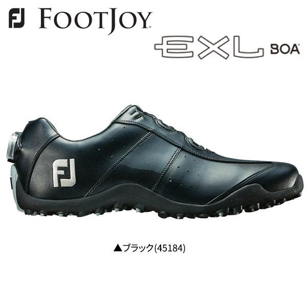 フットジョイ ゴルフ EXL スパイクレス ボア 45184 ゴルフシューズ ブラック FOOTJOY EXL Spikeless Boa【フットジョイ】【ゴルフシューズ】