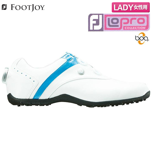 【レディース】 フットジョイ ゴルフ FJ ロープロ スパイクレス ボア ゴルフシューズ ホワイト×ブルー(97191) FOOTJOY LoPro Spikeless Boa【フットジョイ】【ゴルフシューズ】