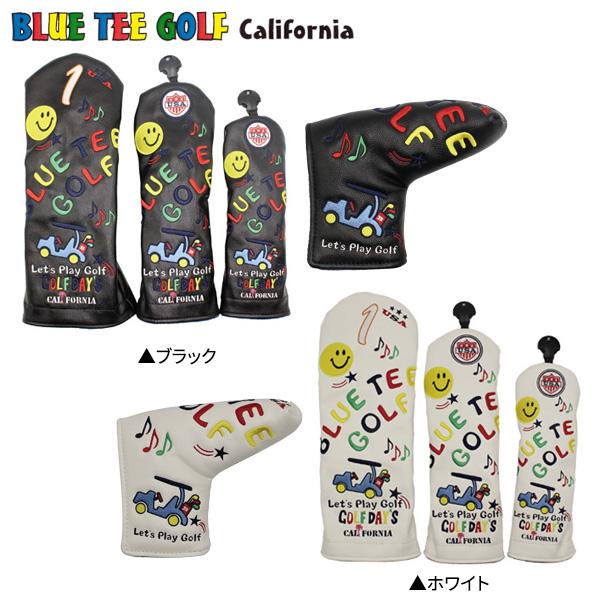 ブルーティー ゴルフ スマイル&カート 5点 ヘッドカバー ピン BLUE TEE GOLF DR用×1 FW用×2 UT用×1 PT用×1【ブルーティー】【ヘッドカバー】