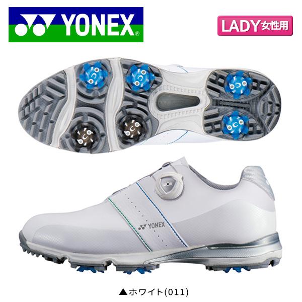 【レディース】 ヨネックス ゴルフ パワークッション エアラス ゴルフ1 SHG-AR1L ソフトスパイク ゴルフシューズ ホワイト(011) YONEX POWER CUSHION AERUS【ヨネックス】【ゴルフシューズ】