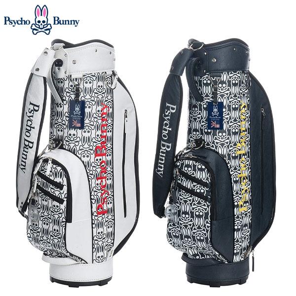 サイコバニー ゴルフ S/B モノグラム PBMG8SC5 カート キャディバッグ Psycho Bunny ゴルフバッグ