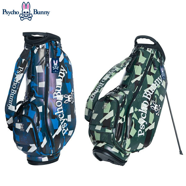 サイコバニー ゴルフ カモ PBMG9FC3 スタンド キャディバッグ Psycho Bunny NEW CAMO ゴルフバッグ