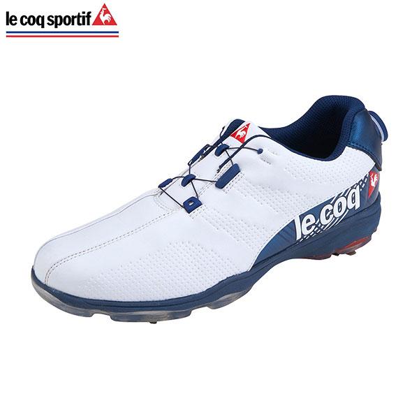 ルコック ゴルフ QQ2NJA00 ゴルフシューズ ホワイト/ブルー le coq sportif ソフトスパイク【ルコックゴルフシューズ】