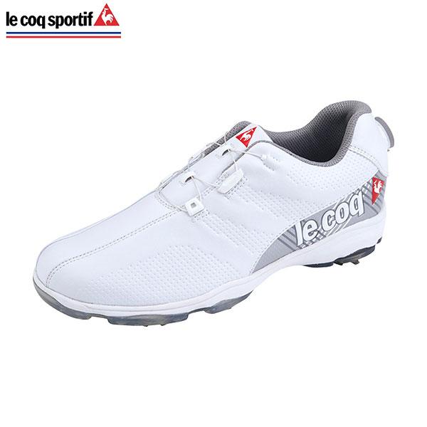 【送料無料】 ルコック ゴルフ QQ2NJA01 ソフトスパイク ゴルフシューズ ホワイト le coq sportif【ルコックゴルフシューズ】【あす楽対応】