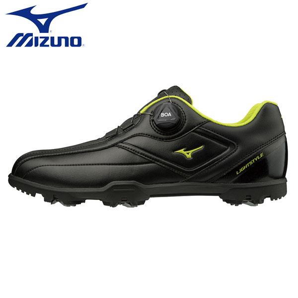 【幅3E】 ミズノ ゴルフ ライトスタイル 003 ボア 51GM1960 ゴルフシューズ ブラック(09) MIZUNO【ミズノ】【ゴルフシューズ】