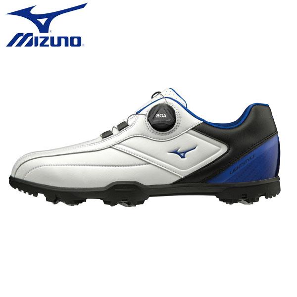 【幅3E/送料無料】 ミズノ ゴルフ ライトスタイル 003 ボア 51GM1960 ゴルフシューズ ホワイト×ブルー(22) MIZUNO【ミズノ】【ゴルフシューズ】