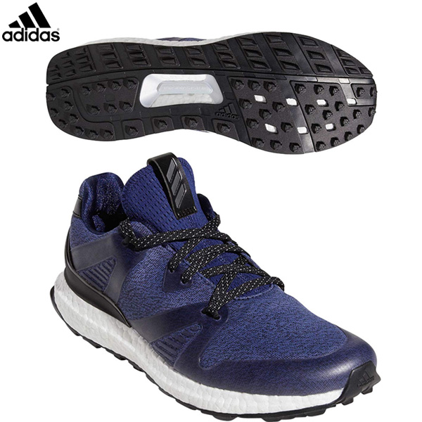 アディダス ゴルフ クロスニット 3.0 BTE53 ゴルフシューズ ダークブルー/コアブラック/ナイトメット adidas スパイクレス 29cm 30cm【アディダス】【ゴルフシューズ】
