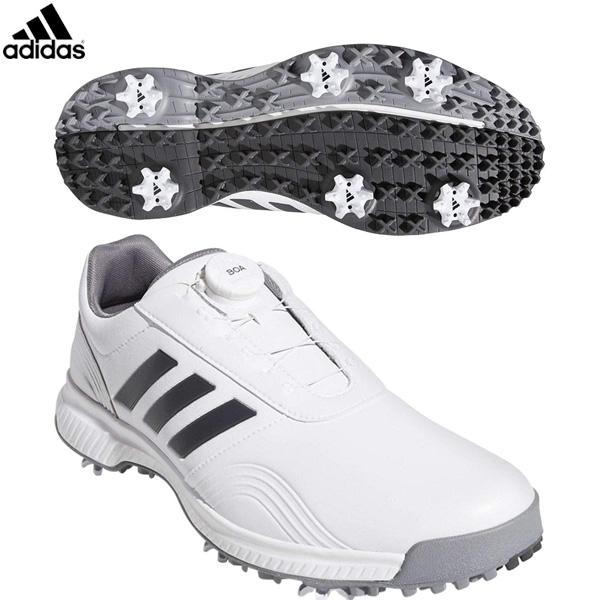 アディダス ゴルフ CP トラクション ボア BTE47 ゴルフシューズ ホワイト/グレーシックス/シルバーメット adidas【アディダス】【ゴルフシューズ】