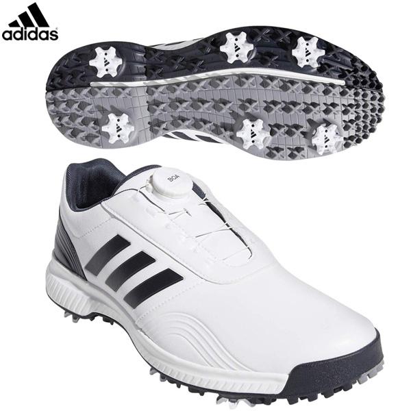 アディダス ゴルフ CP トラクション ボア BTE47 ゴルフシューズ ホワイト/ブラックブルーメット/シルバーメット adidas 29cm 30cm【アディダス】【ゴルフシューズ】