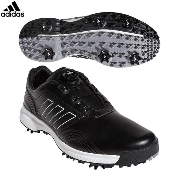 アディダス ゴルフ CP トラクション ボア BTE47 ゴルフシューズ コアブラック/ホワイト/シルバーメット adidas【アディダス】【ゴルフシューズ】