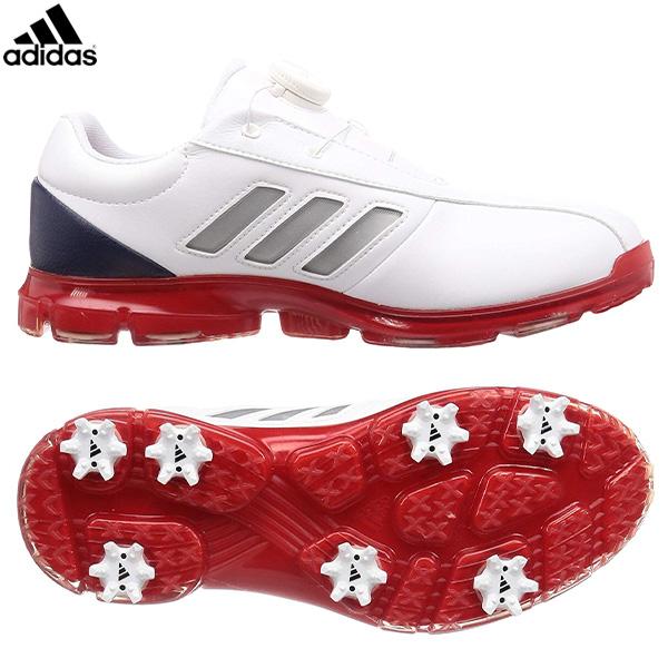 アディダス ゴルフ アルファフレックス CEZ98 ゴルフシューズ ホワイト×シルバーメタリック×カレジエイトネイビー(F35397) adidas 【アディダス】【シューズ】