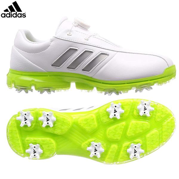 アディダス ゴルフ アルファフレックス CEZ98 ゴルフシューズ ホワイト×シルバーメタリック×ソーラースライム(F35400) adidas 【アディダス】【シューズ】