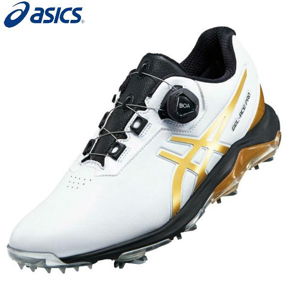 アシックス ゴルフ ゲルエース プロ 4 ボア 1113A002 GEL-ACE PRO 4 Boa ゴルフシューズ ホワイト×リッチゴールド(101) asics【アシックスゴルフシューズ】