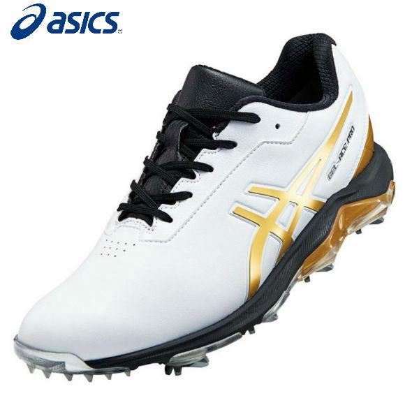 アシックス ゴルフ ゲルエース プロ 4 1113A013 GEL-ACE PRO 4 ゴルフシューズ ホワイト×リッチゴールド(101)【アシックスゴルフシューズ】