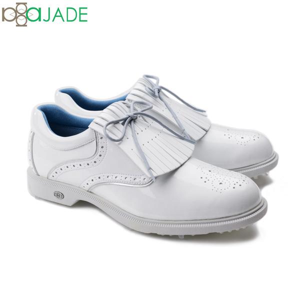 アジェイド ゴルフ ハーマン HARMAN AJM-002 パテントシリーズ ゴルフシューズ ホワイト aJADE patent-series【アジェイド】【ゴルフシューズ】