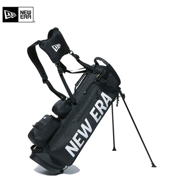 ニューエラ ゴルフ ホワイトプリントロゴ スタンド キャディバッグ NEWERA ゴルフバッグ【ニューエラ】【キャディバッグ】