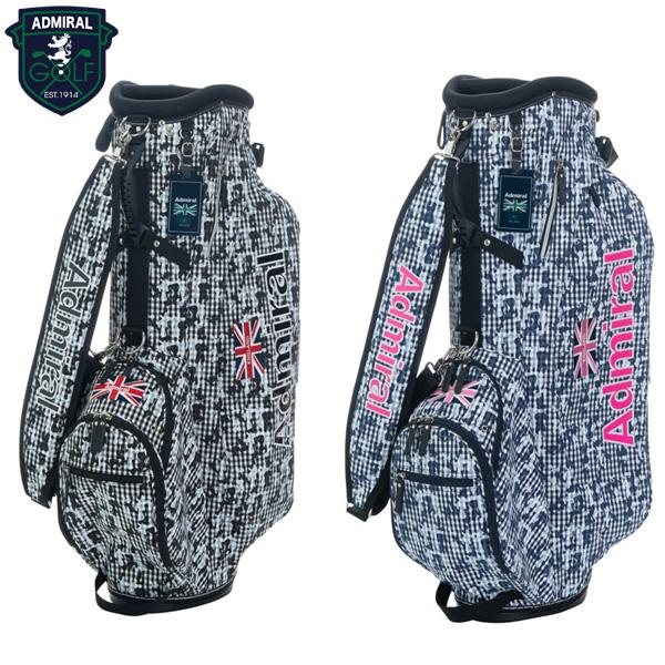 アドミラル ゴルフ チェックカモ ST ADMG9SC7 スタンド キャディバッグ ADMIRAL ゴルフバッグ