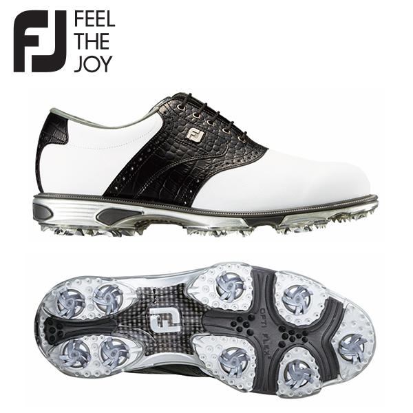 フットジョイ ゴルフ ドライジョイズ ツアー 53610 ゴルフシューズ ホワイト×ブラック FootJoy FJ【フットジョイ】【ゴルフシューズ】