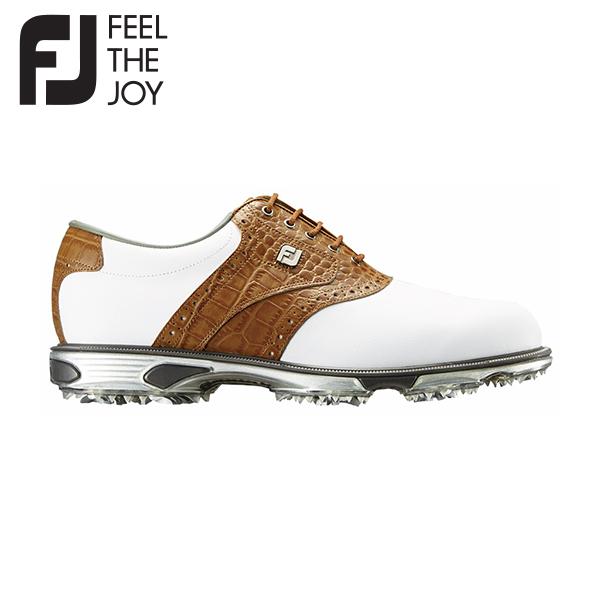 フットジョイ ゴルフ ドライジョイズ ツアー 53696 ゴルフシューズ ホワイト×タン FootJoy FJ【フットジョイ】【ゴルフシューズ】