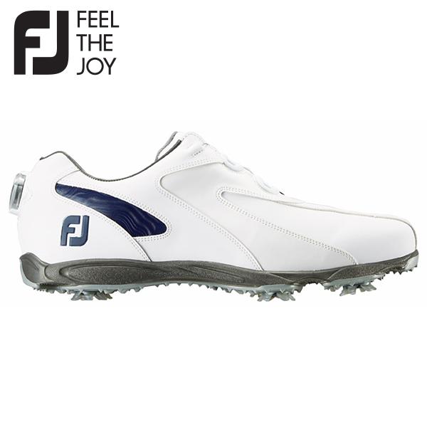 【送料無料】 フットジョイ ゴルフ EXL スパイク ボア 45189 ゴルフシューズ ホワイト×ネイビー FootJoy FJ BOA【フットジョイ】【ゴルフシューズ】