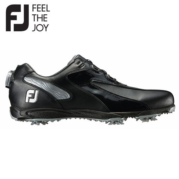 フットジョイ ゴルフ EXL スパイク ボア 45190 ゴルフシューズ ブラック×シルバー FootJoy FJ BOA【フットジョイ】【ゴルフシューズ】