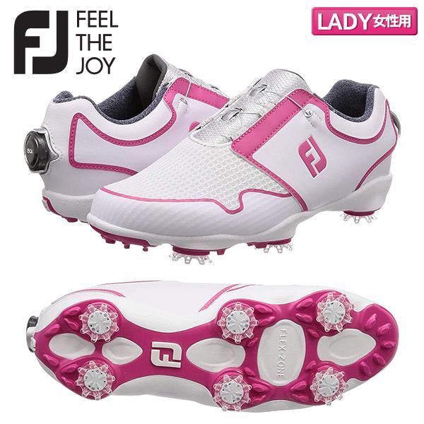 【レディース】 フットジョイ ゴルフ FJ スポーツ TF ボア 96209 ゴルフシューズ ホワイト×ピンク FootJoy WT×PI【フットジョイ】【ゴルフシューズ】