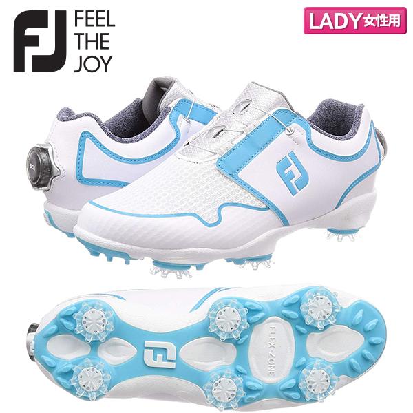 【レディース】 フットジョイ ゴルフ FJ スポーツ TF ボア 96207 ゴルフシューズ ホワイト×ブルー FootJoy WT×BL【フットジョイ】【ゴルフシューズ】