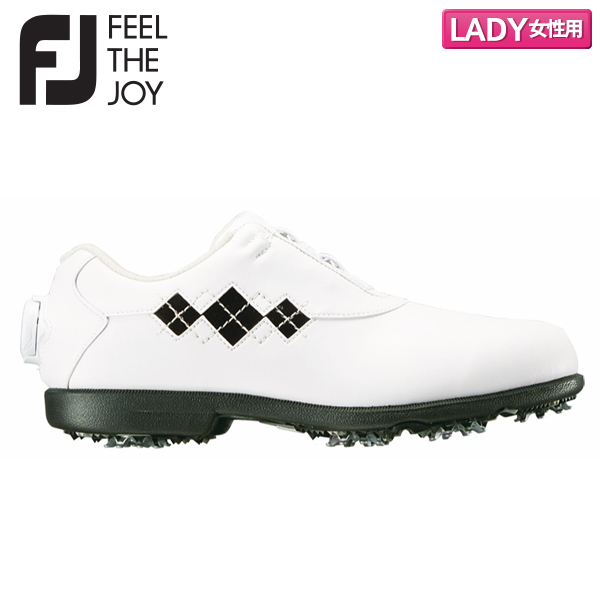 【レディース/送料無料】 フットジョイ ゴルフ ウィメンズ eコンフォート ボア 98626 ゴルフシューズ ホワイト×ブラック FootJoy FJ ECOMFORT WT×BK【フットジョイ】【ゴルフシューズ】